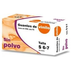 Luvas de Vinil sem Pó Descartáveis (caixa de 100 unidades)